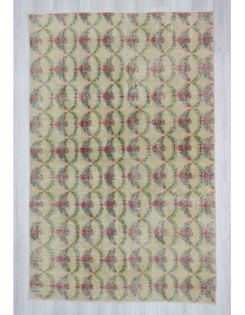 Hand knotted vintage decorative modern Turkish art deco rug