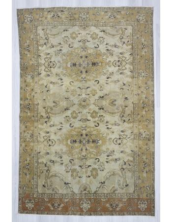 Vintage hand knotted decorative Turkish area rug