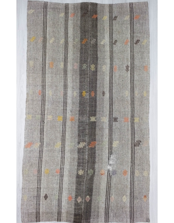 Handwoven vintage decorative modern Turkish kilim rug