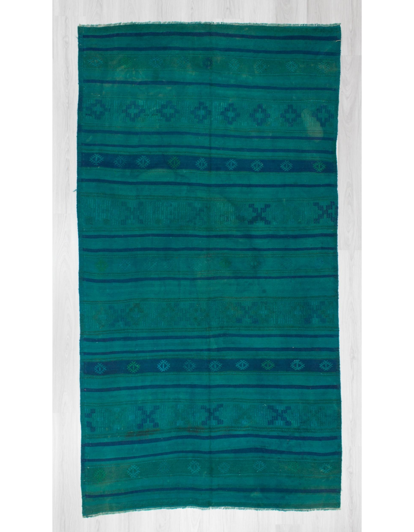 Vintage Blue Over Dyed Embroidered