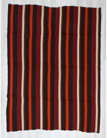 Handwoven vintage striped decorative Turkish kilim rug