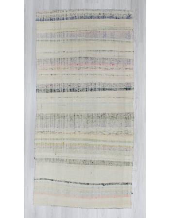 Handwoven vintage modern Turkish rag rug