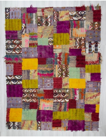 Vintage decorative colourful kilim patchwork rug