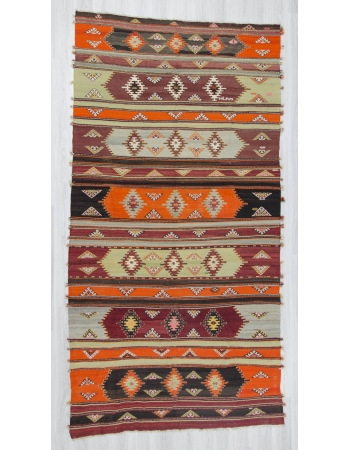Handwoven vintage decorative colorful large Turkish kilim rug