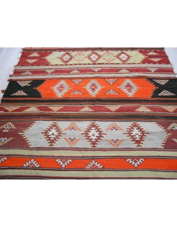 Handwoven vintage decorative colorful large Turkish kilim rug