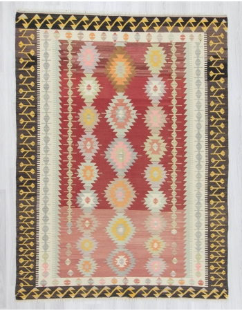 Handwoven vintage decorative modern large Turkish kilim rug
