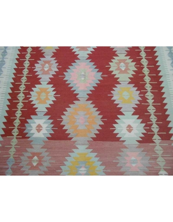 Handwoven vintage decorative modern large Turkish kilim rug