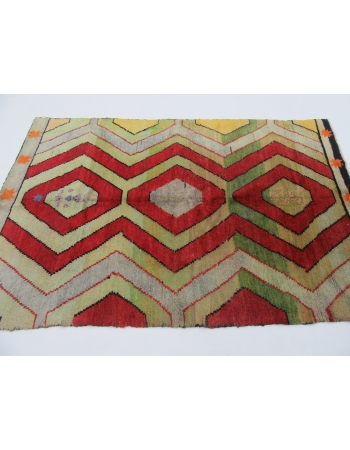 Handknotted vintage decorative modern Turkish rug
