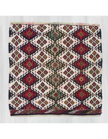 Handwoven antique decorative small Turkish kilim rug