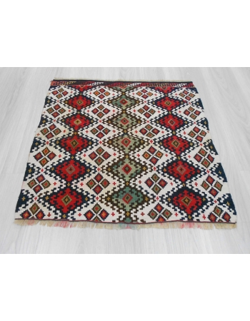 Handwoven antique decorative small Turkish kilim rug