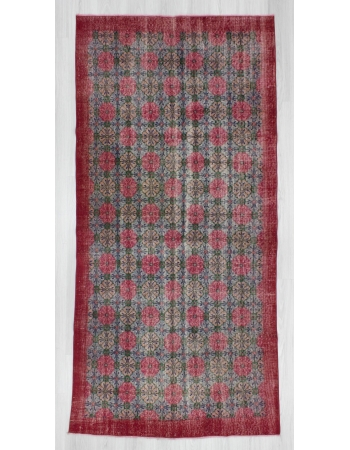 Hand-knotted vintage decorative Turkish art deco rug