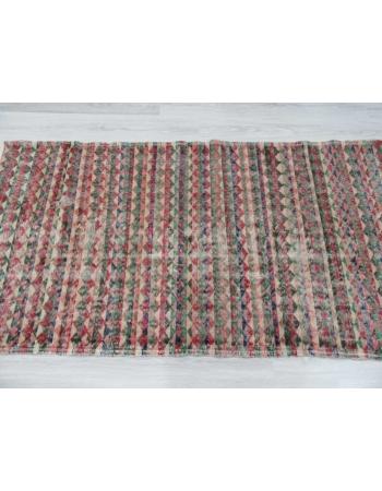Hand-knotted vintage decorative Turkish art deco rug