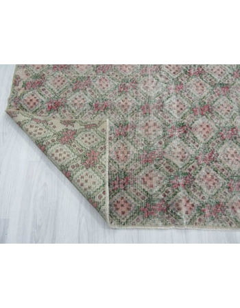 Vintage Hand-knotted decorative Turkish art deco rug