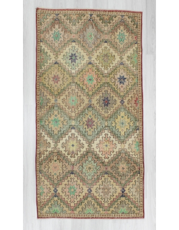 Vintage handknotted decorative Turkish art deco rug