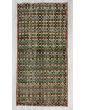Vintage hand-knotted decorative modern Turkish art deco rug