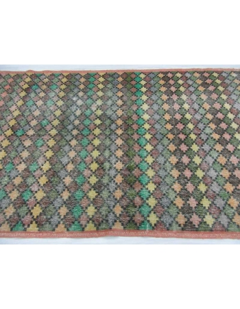 Vintage hand-knotted decorative modern Turkish art deco rug