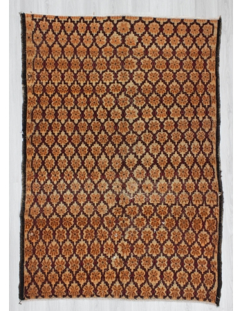 Hand-knotted vintage decorative modern Turkish area rug