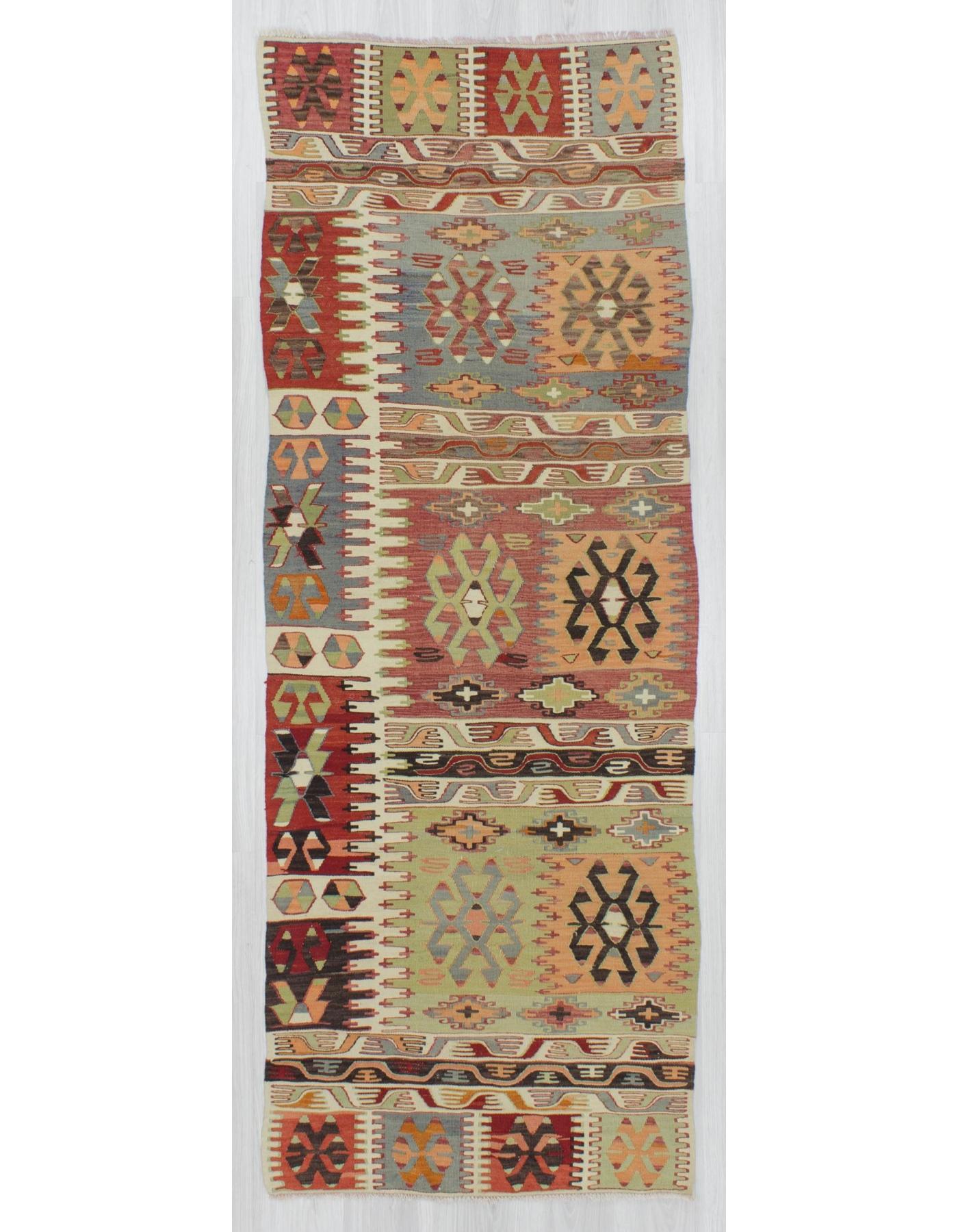 Vintage Decorative Turkish Kilim Runner Rug