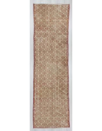 Vintage hand-knotted decorative modern Turkish runner rug