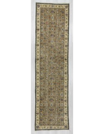Vintage handknotted Turkish runner rug