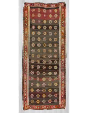 Vintage handwoven decorative Turkish kilim rug
