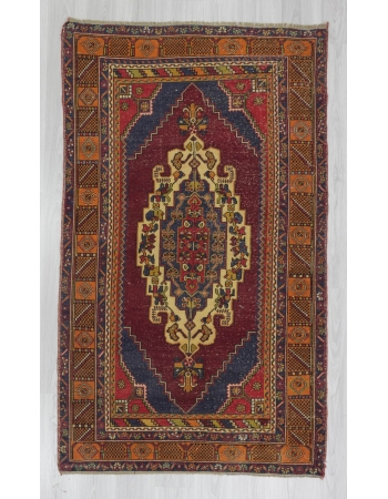 Mid century handknotted Turkish Konya area rug