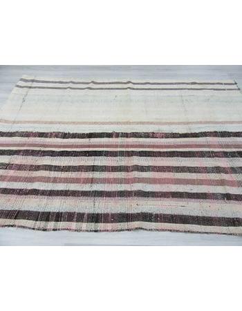 Vintage decorative Turkish rag rug
