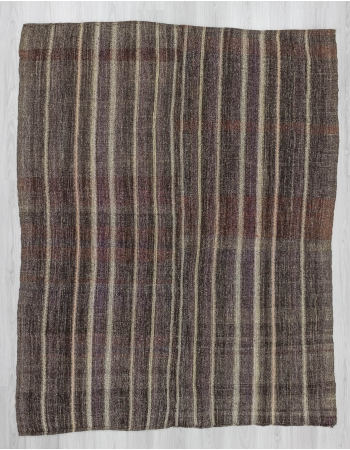 Vintage striped decorative Turkish kilim rug
