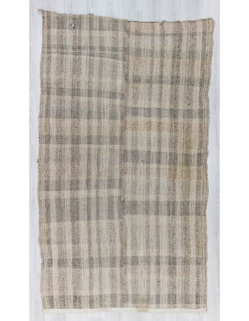 Vintage naturel modern Turkish kilim rug