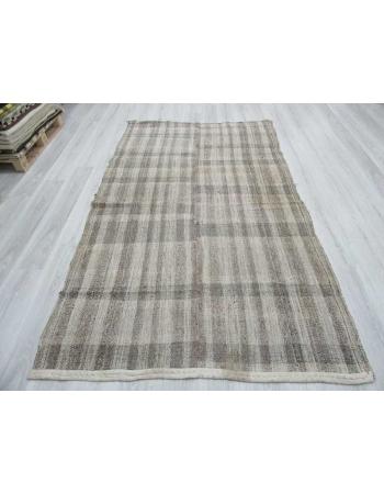 Vintage naturel modern Turkish kilim rug