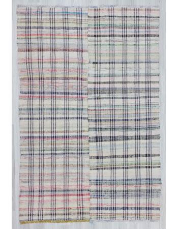 Handwoven vintage decorative Turkish rag rug