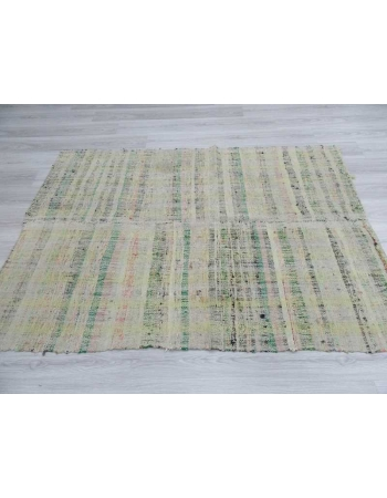 Vintage modern Turkish rag rug