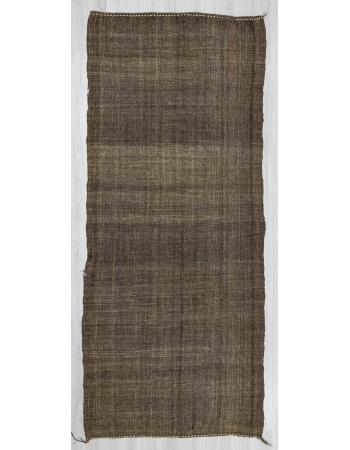 Handwoven vintage modern goat hair Turkish kilim rug
