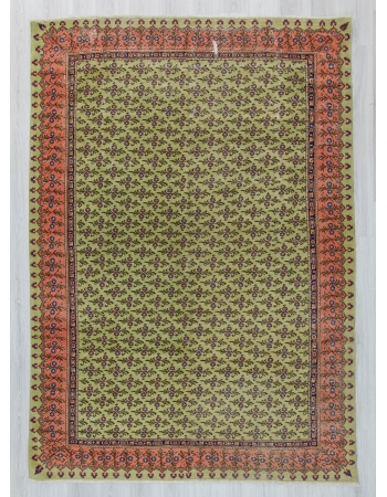 Vintage decorative Turkish area rug