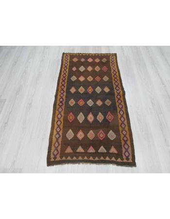 Vintage decorative Turkish Kars kilim rug