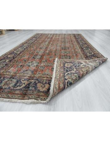 Vintage distressed Turkish rug