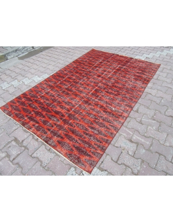 Burgundy Vintage Turkish Deco Rug