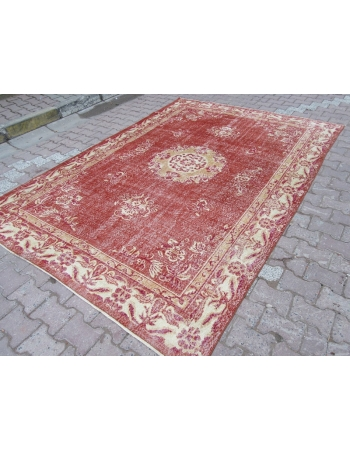 Vintage Rust / Ivory Turkish Carpet
