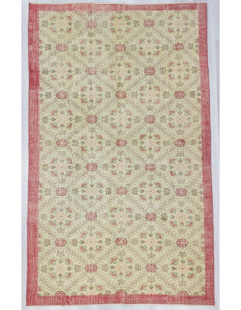 Floral Vintage Decorative Turkish Carpet