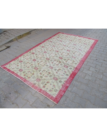 Floral Vintage Decorative Turkish Carpet