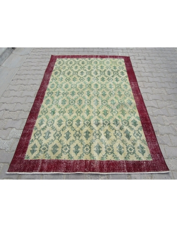 Vintage Floral Turkish Area Rug