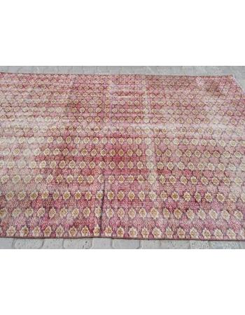 Distressed Vintage Turkish deco Rug
