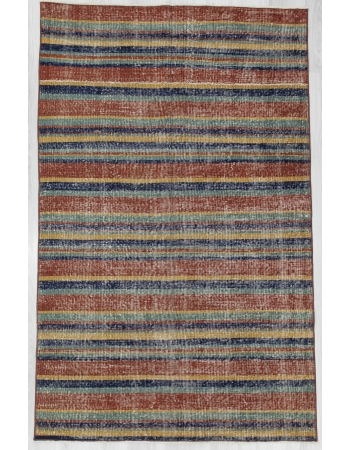 Striped Vintage Turkish Art Deco Rug