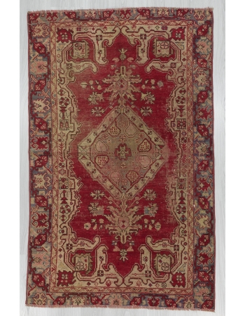 Worn Vintage Turkish Anatolian Rug