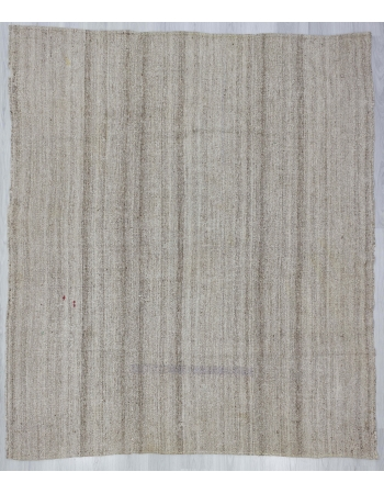 Gray Vintage Turkish Kelim Rug