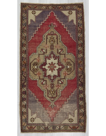 Vintage Worn Turkish Anatolian Rug