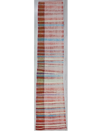 Striped Vintage Rag Runner Rug
