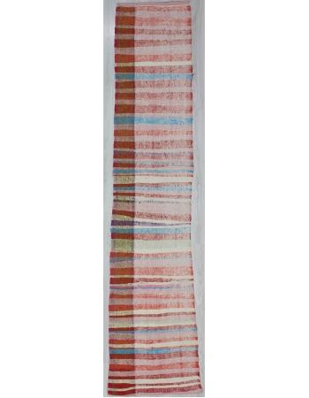 Striped Vintage Rag Runner Rug