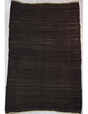 Vintage Modern Plain Brown Kilim Rug
