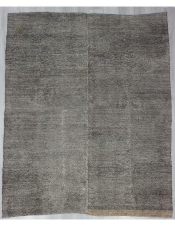 Gray Vintage Plain Kilim Rug